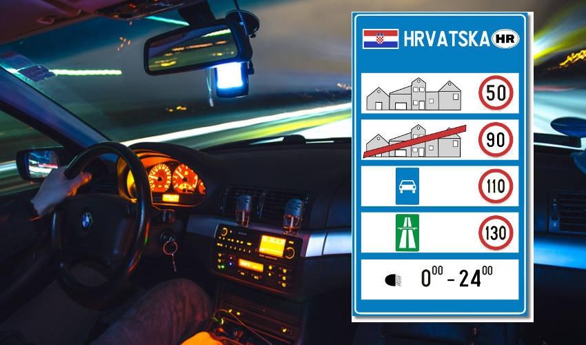 Kazne za prekoračenje dopuštene brzine na cestama