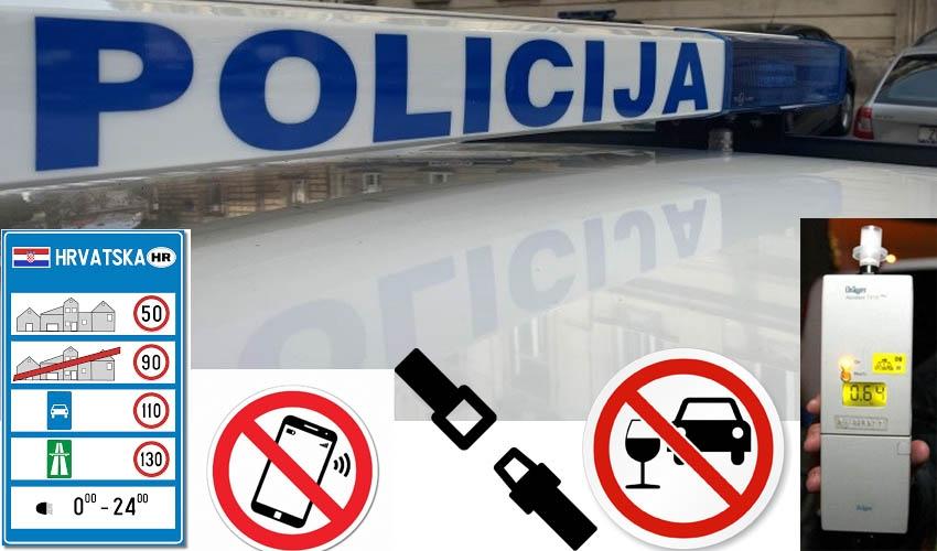ZAGREB: Od 750 prometnih prekršja, trećina zbog prebrze vožnje