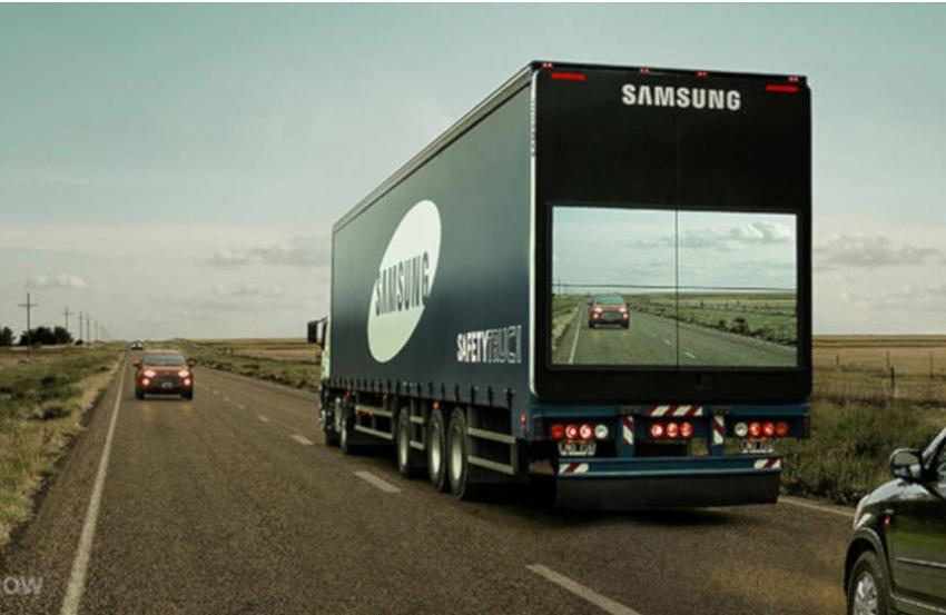 SAMSUNG: Live streaming ceste ispred kamiona
